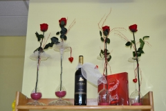 Copas con flor preservada